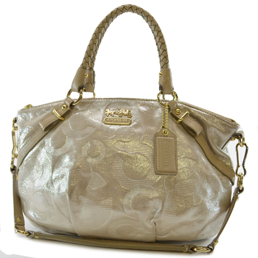 69a01475788 ... discount code for it is coach coach op art handbag shoulder bag 2way  gold collar leather ...