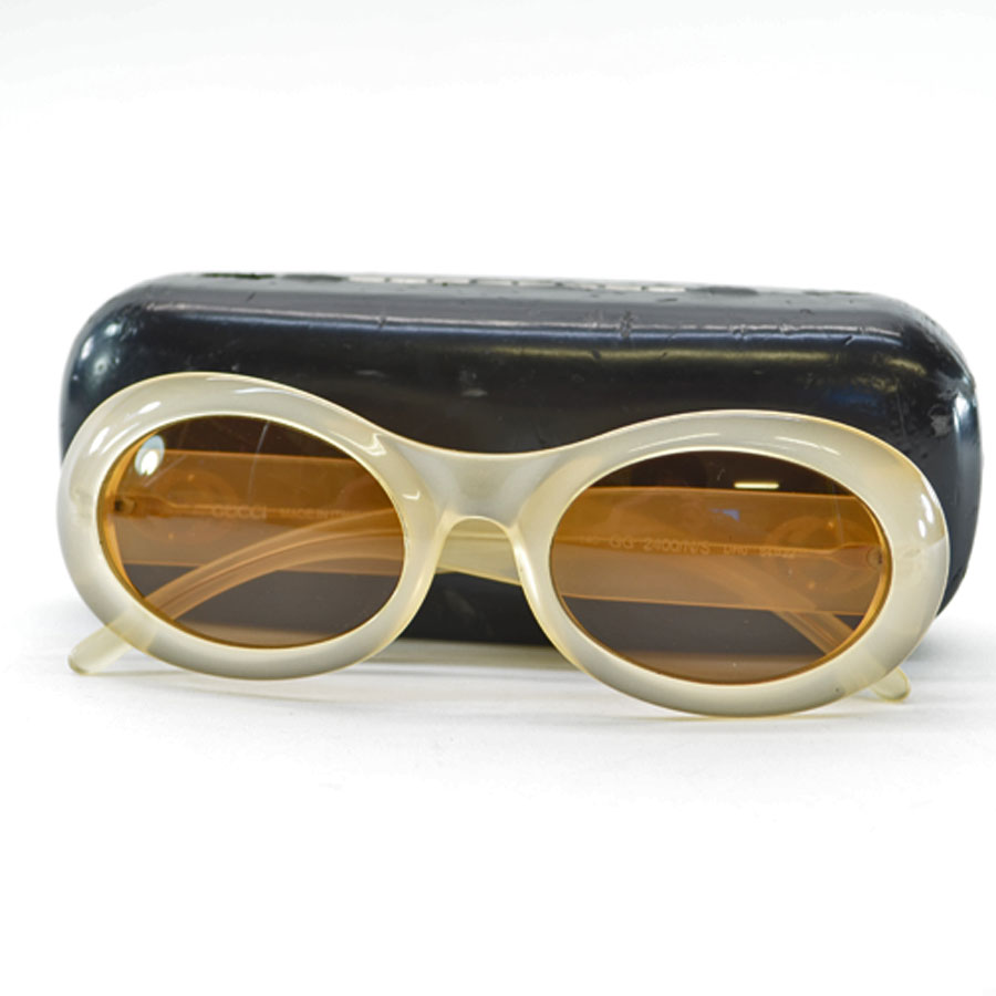 f77081bca3 Gucci GUCCI sunglasses 54 □ 22 140 ◇ lens  An orange brown frame  Clear  beige plastic x metal material ◇ basic popular double G ◇ Lady s - k7428