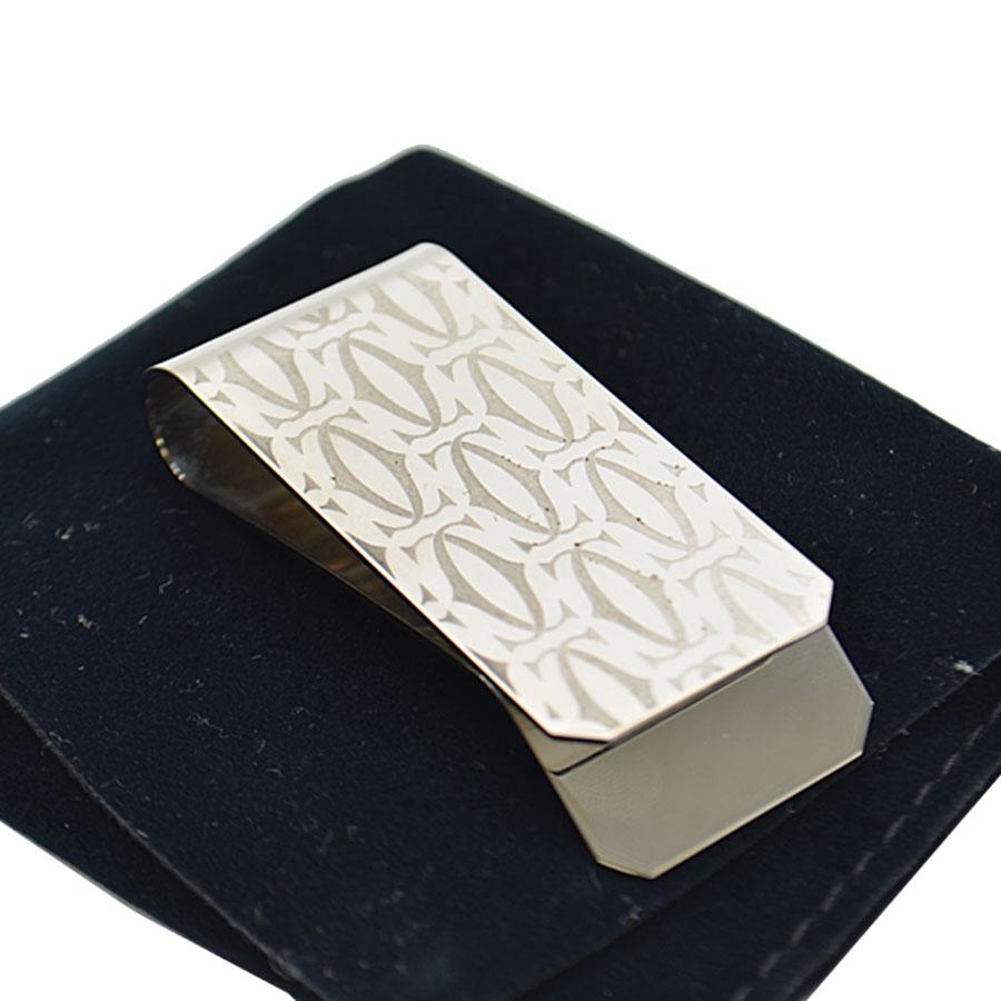 カルティエ Cartier マネークリップ 2Cモチーフ シルバー 金属素材 メンズ 【中古】【定番人気】 - k9341