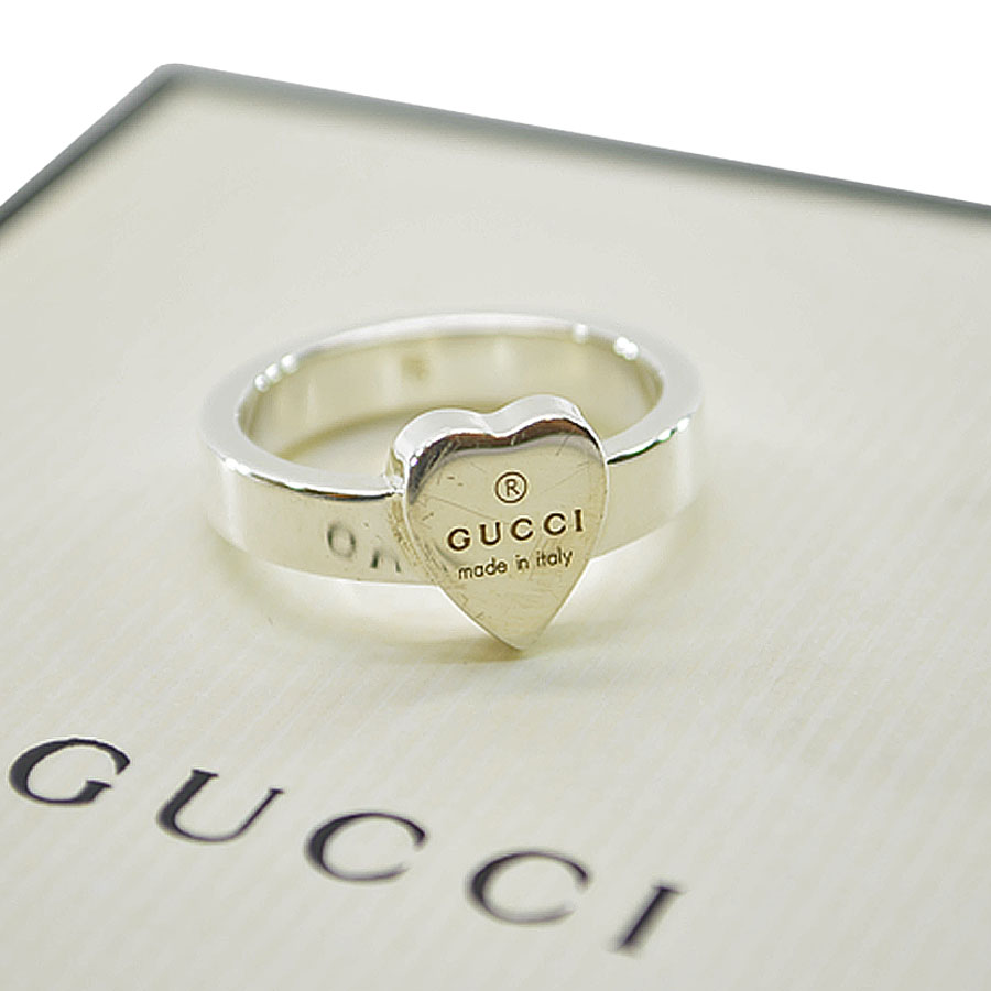 8693084ee BrandValue: Gucci GUCCI ring heart ◇ silver color SV925 ◇ constant seller  popularity ring ◇ Lady's - k8005 | Rakuten Global Market