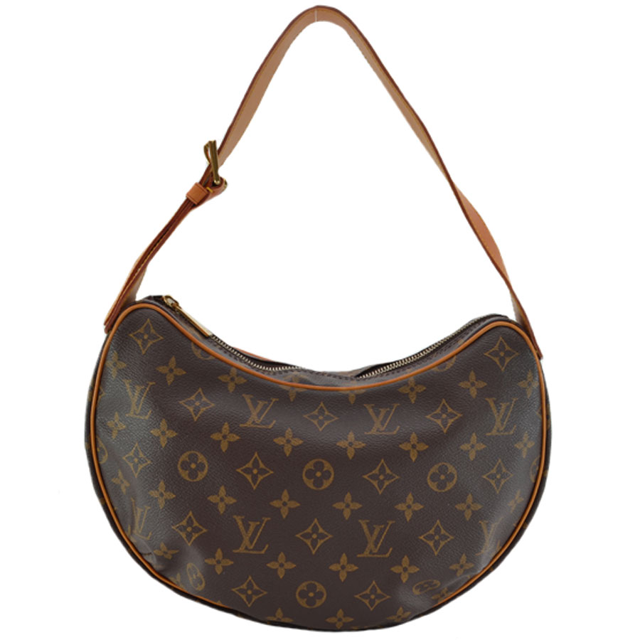 f816ba0afc77 It is Louis Vuitton  Louis Vuitton  monogram pochette croissant PM shoulder  bag Lady s brown monogram canvas  soot   used