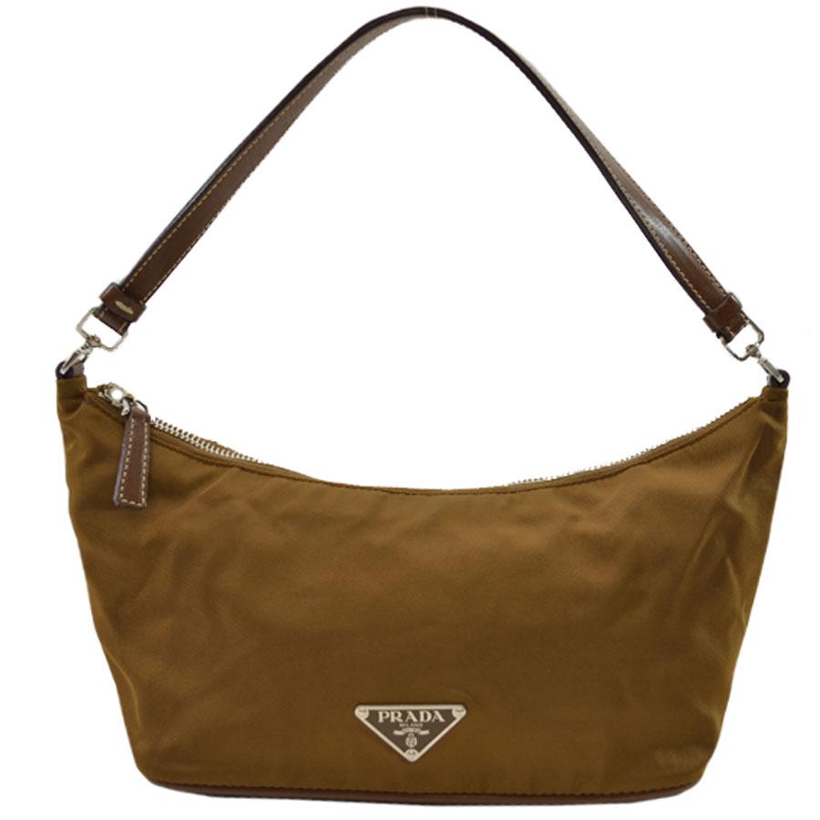 da88a13673ed  basic popularity   used  Prada  PRADA  accessories porch mini-handbag  shoulder bag Lady s brown nylon x leather