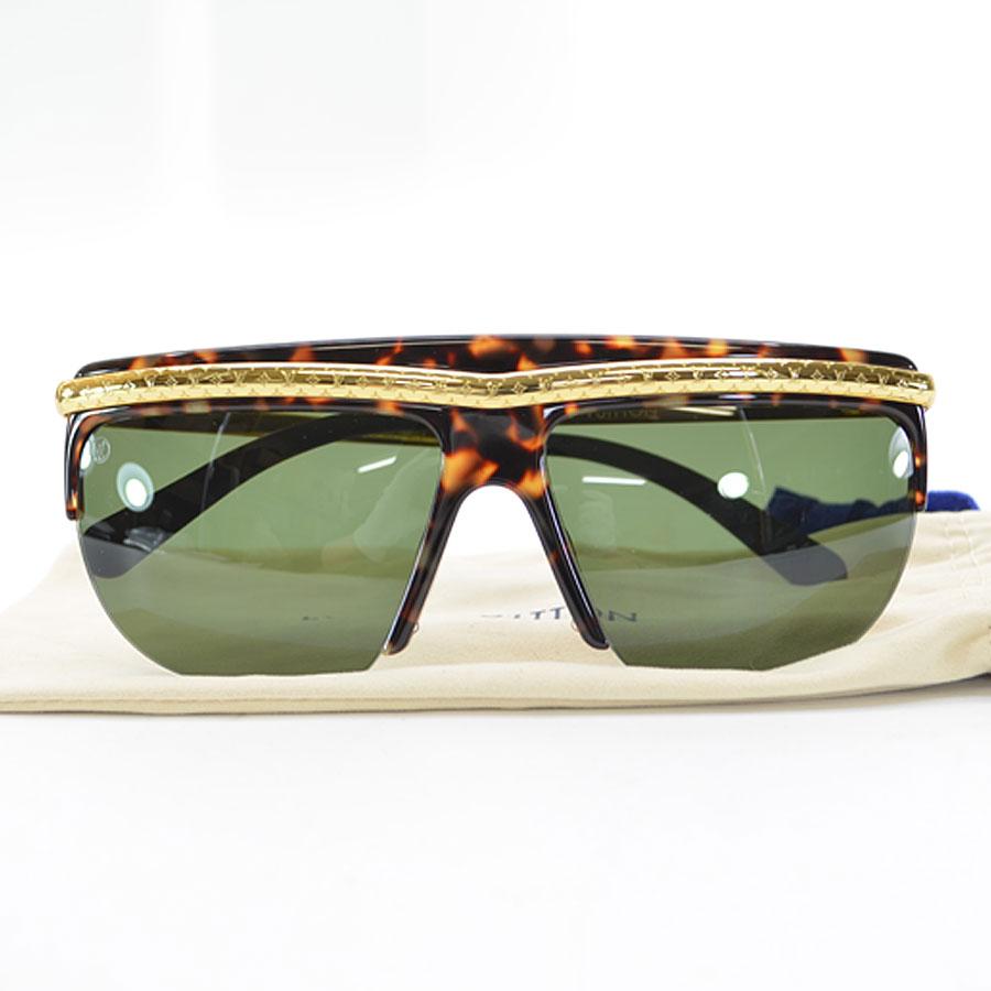 a65804d00ab6  basic popularity   used  Louis Vuitton  Louis Vuitton  monogram easy rider  sunglasses (61 □ 14 135) lady s men s gold x black x brown metal x acetate