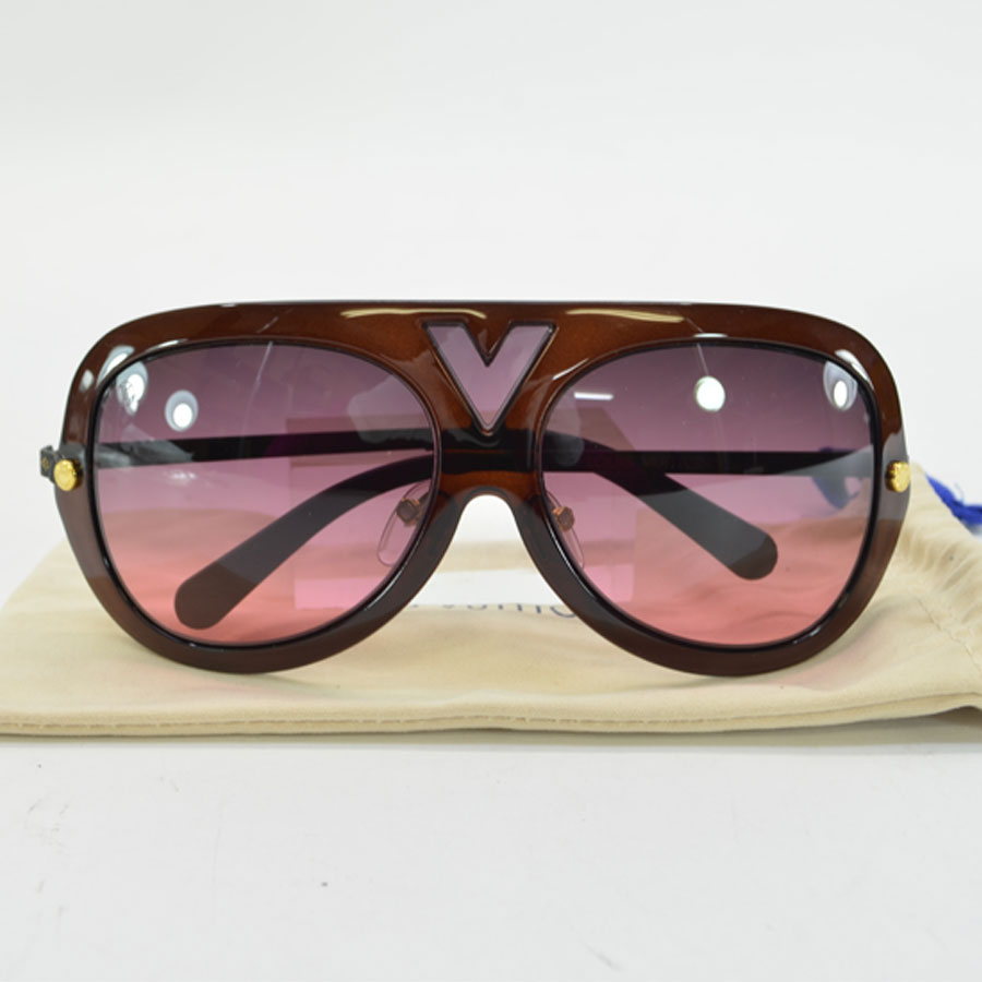 8c3856403c  basic popularity   used  Louis Vuitton  Louis Vuitton  monogram sunglasses  (60 □ 15 125) lady s men s Bordeaux x black x gold plastic xSS
