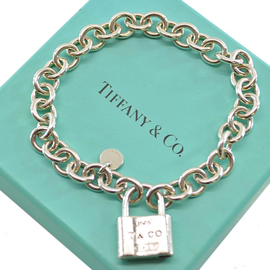 Constant Tiffany Tiffanyco ブレスレットカデナ1837 Lock Charm Breath Silver Sv925
