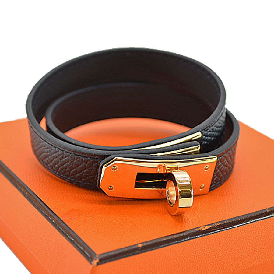 23096f73c0 ... uk brandvalue rakuten global market two hermes hermes bracelet kelly do  bulldog tours leather bracelet black