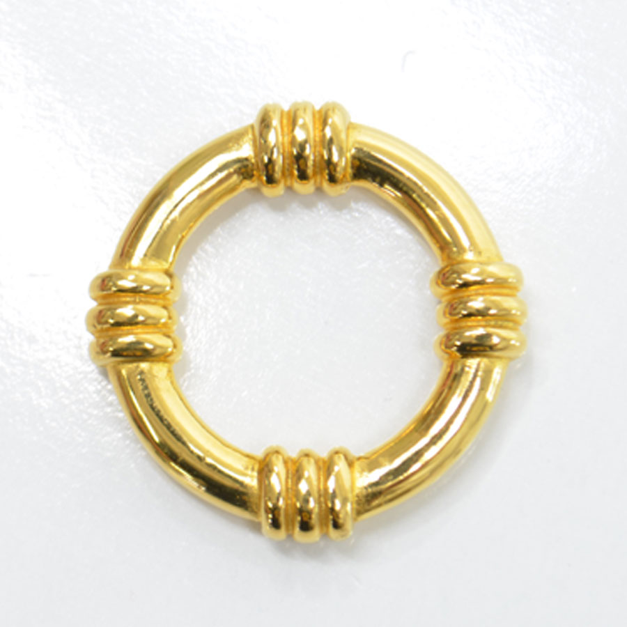 エルメス スカーフリング スカーフピン 販売実績No.1 市販 金属素材 ゴールド 中古 レディース - 53328a 定番人気 HERMES