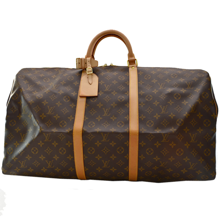 Louis Vuitton  Louis Vuitton  monogram key Poll 60 Boston bag travel bag  handbag Lady s men brown monogram campus  used  constant seller popularity 15d509fda6f92