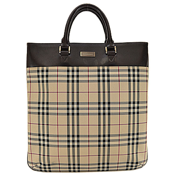 201268b1ebe It is Burberry  BURBERRY  Novacek handbag tote bag Lady s men beige x black  x red x dark brown PVCx leather  soot   used