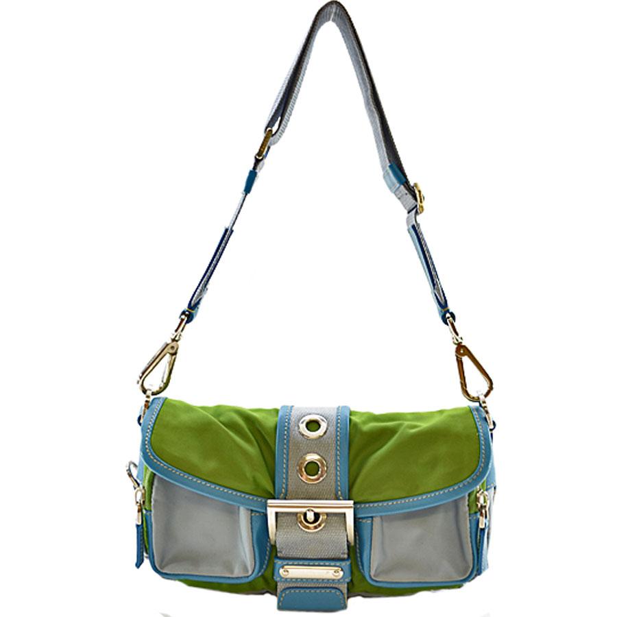 4689022cbfd7 ... new arrivals brandvalue rakuten global market prada prada shoulder bag  green x blue x gray nylon