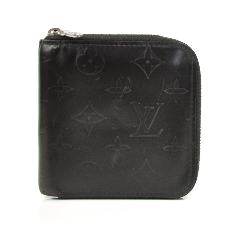 ルイヴィトン Louis Vuitton ラウンドファスナー財布 モノグラムマット ◆ダークブラウン系 レザー◆定番人気【中古】 ◆レディース メンズ - x1825