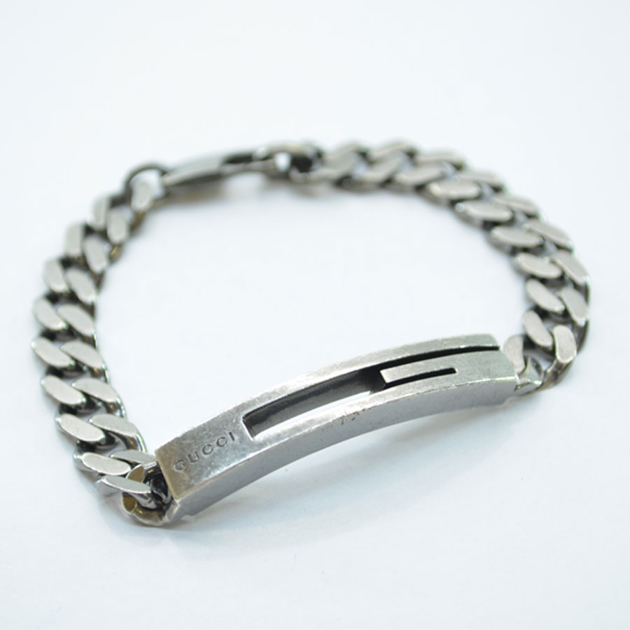 76b668b89 BrandValue: Gucci GUCCI bracelet cutout G ◇ cancer metallic silver 925 ◇  constant seller popularity ◇ Lady's men - k7972 | Rakuten Global Market