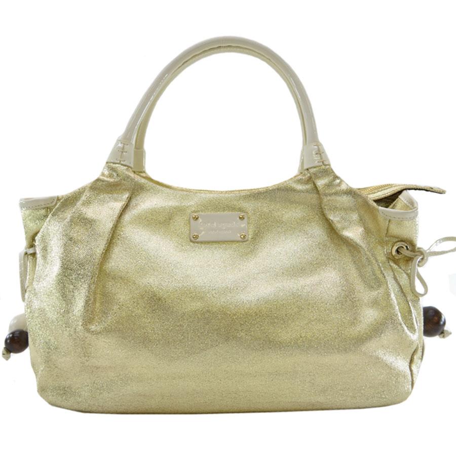 Brandvalue Rakuten Global Market Kate Spade Handbag Gold Collar X Off White Patent Leather Canvas Constant Er Pority