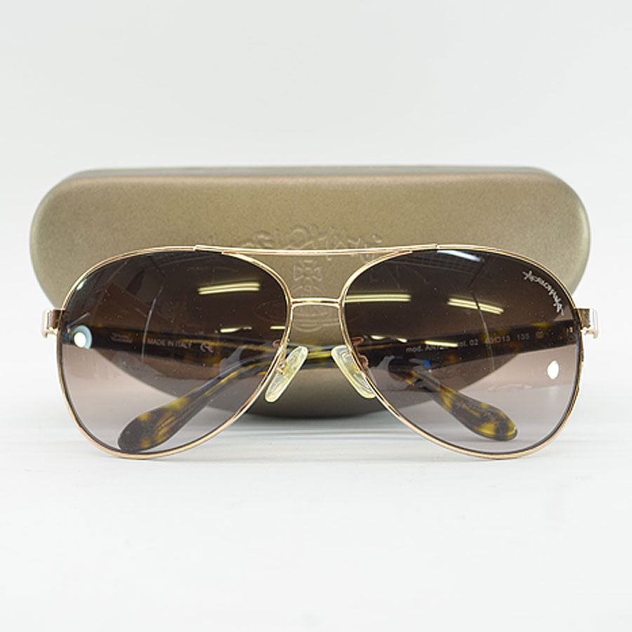 e3952a41c41d Vivien waist Wood  Vivienne Westwood  sunglasses 63 □ 13 135 lady s men s  brown x gold metal material x plastic  used  constant seller popularity
