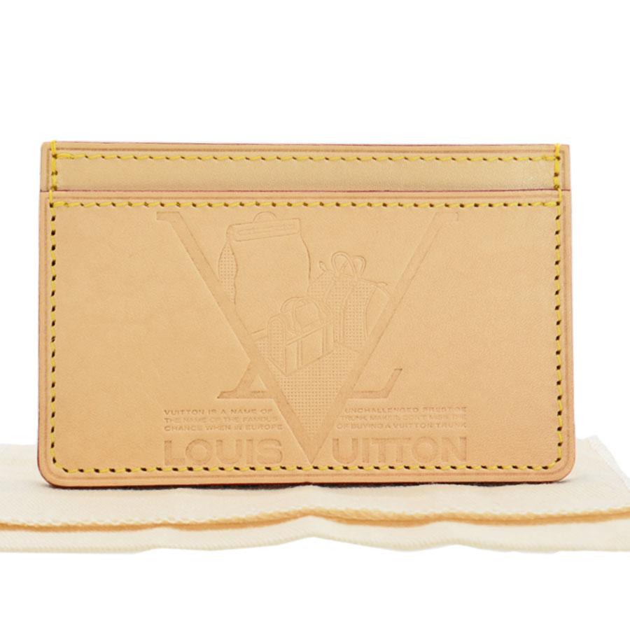 ルイヴィトン Louis Vuitton カードケース ナチュラル ヌメ革 パスケース レディース メンズ 【中古】【ノベルティ】 - 51487