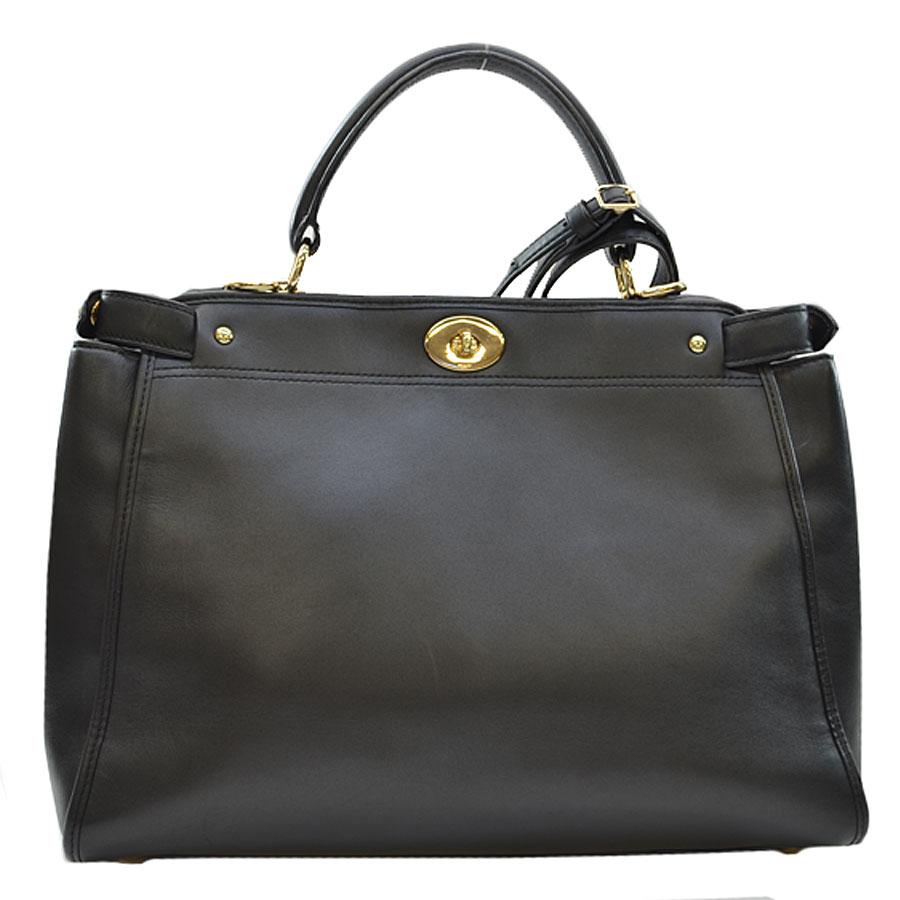 e3f5cf81 Coach COACH handbag black x gold leather x metal material shoulder bag 2Way  bag lady - k8197