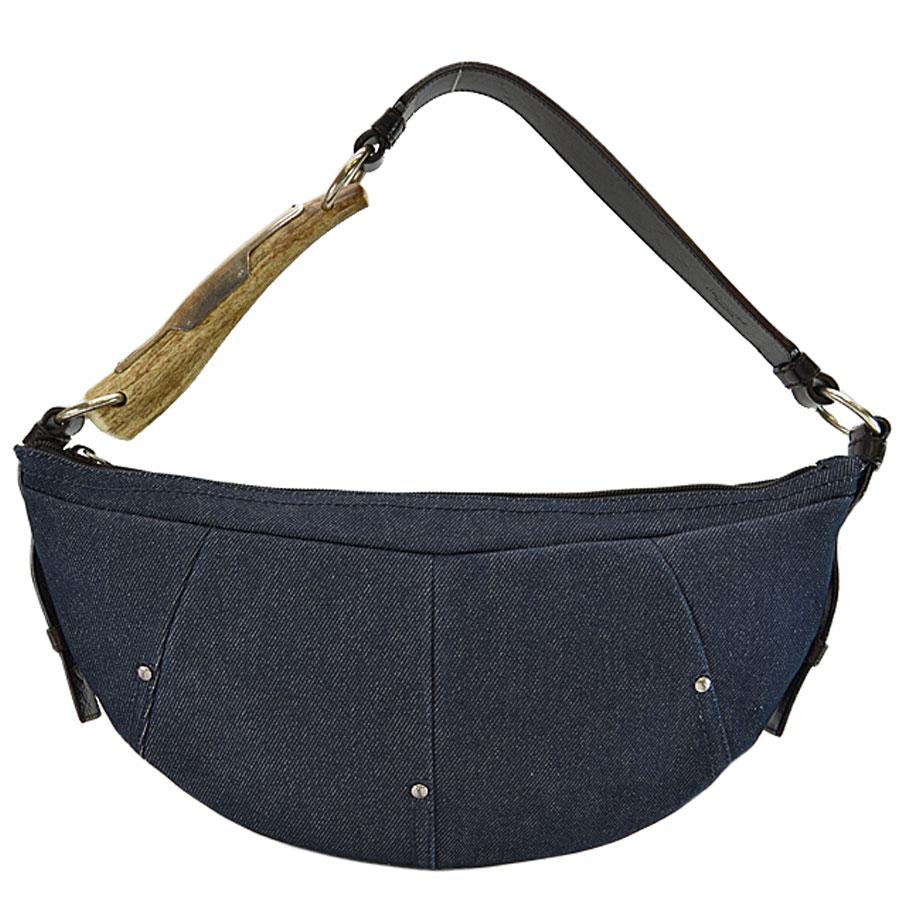 02381b660390  basic popularity   used  Yves Saint-Laurent  YVES SAINT LAURENT  Mombasa shoulder  bag Lady s dark navy x black denim canvas x leather x Kazuno