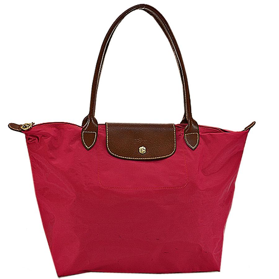 3e616deb8df BrandValue: Longchamp LONGCHAMP トートバッグルプリアージュレッド x brown nylon x leather  shoulder bag Lady's - k8367 | Rakuten Global Market