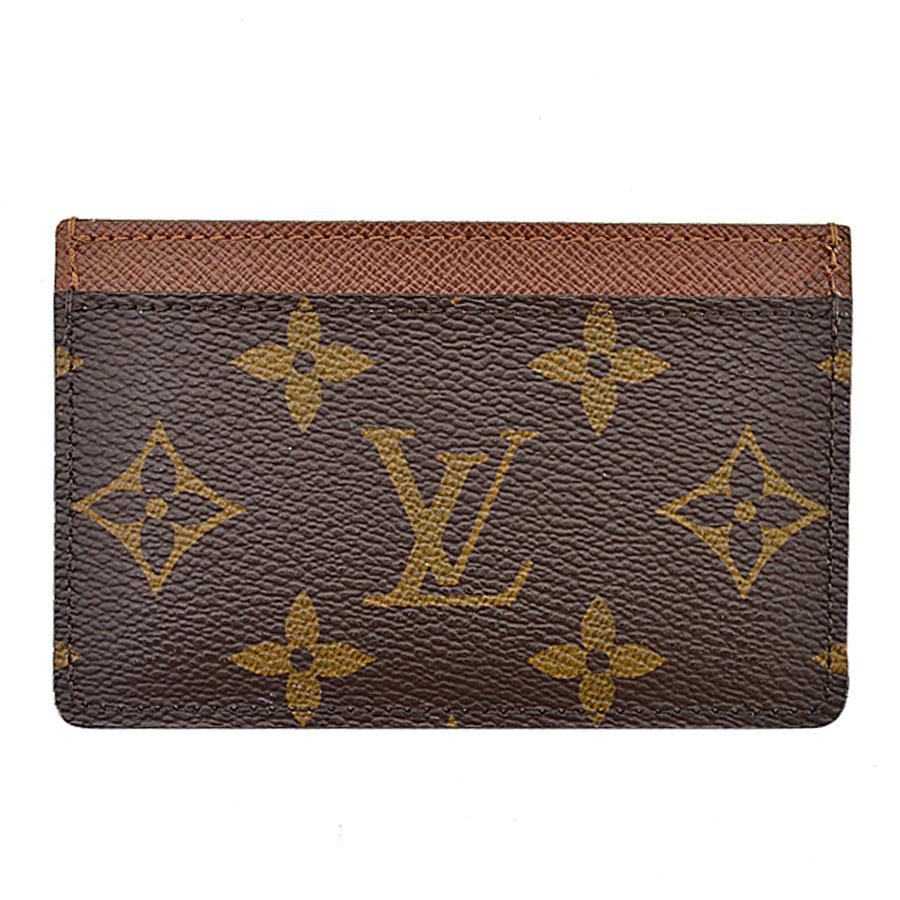 ルイヴィトン Louis Vuitton カードケース モングラム ポルトカルトサーンプル ブラウン モノグラムキャンバス 定期入れ パスケース レディース メンズ M61733 【中古】【定番人気】 - k8387