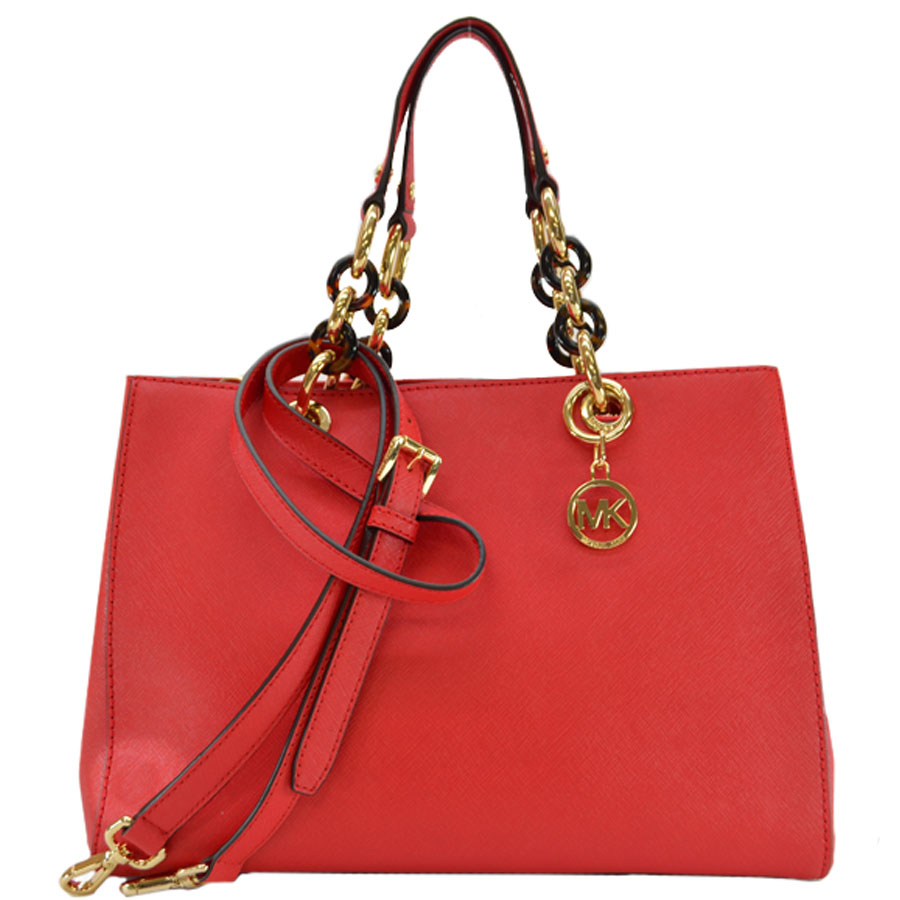 Michael Kors MICHAEL KORS handbag red system x gold collar x tortoiseshell leather x metal material shoulder bag 2WAY Lady's k8699