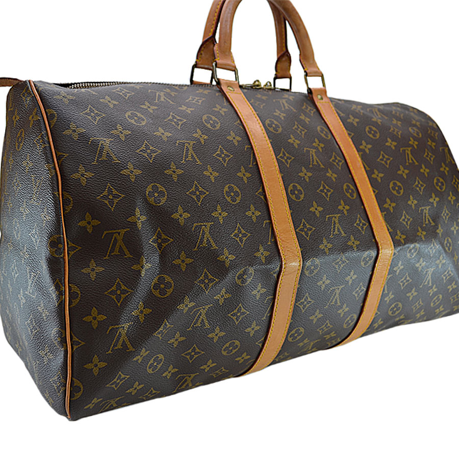 Louis Vuitton Louis Vuitton Boston bag monogram key Poll 55 brown monogram  canvas handbag travel bag lady men M41424 - r6141 67f2cc4e7feaa