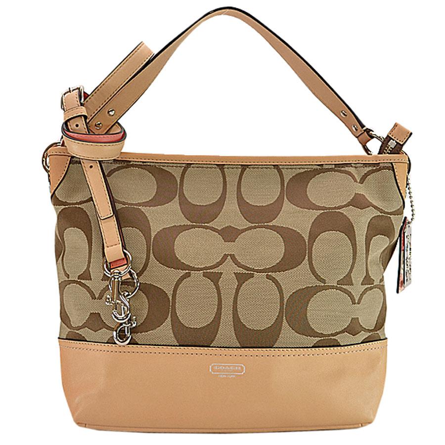 66a2208091 BrandValue: Take coach COACH shoulder bag signature beige x pink canvas x  leather slant; 2WAY Lady's - r6159 | Rakuten Global Market
