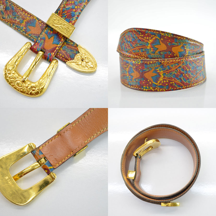 b0d8ac833cdb3 ... wholesale basic popularity used a hermes hermes belt 65 ladys brown x  green x red leather