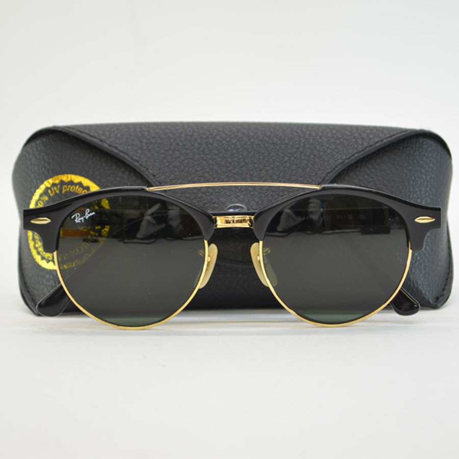 b97bb5e19351b  basic popularity   used  a Ray-Ban  Ray-Ban  sunglasses 51 □ 19 men s black  x gold glass x plastic x metal material