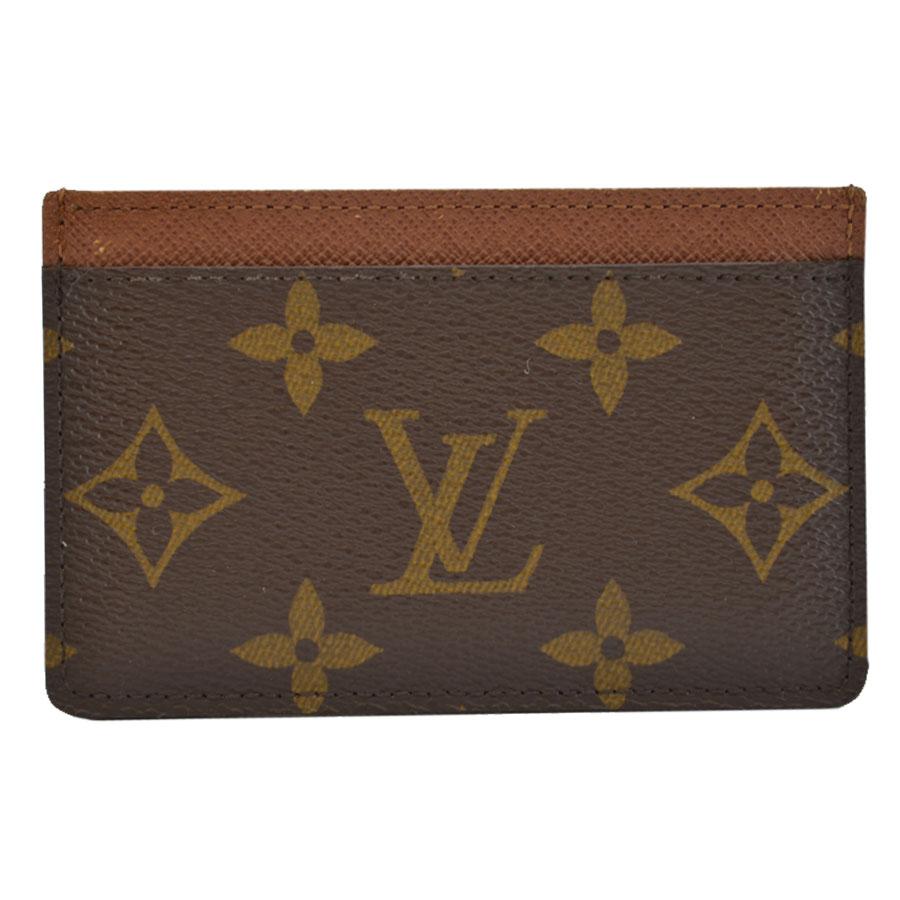 ルイヴィトン Louis Vuitton カードケース モノグラム ポルトカルトサーンプル ブラウン モノグラムキャンバス パスケース レディース メンズ M61733 【中古】【定番人気】 - k8808