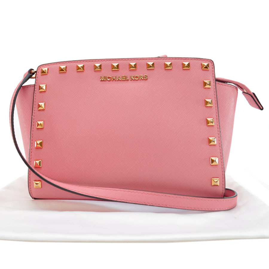 9c1d316ae17a ... official basic popularity used take michael kors michael kors slant a  shoulder bag ladys pink x