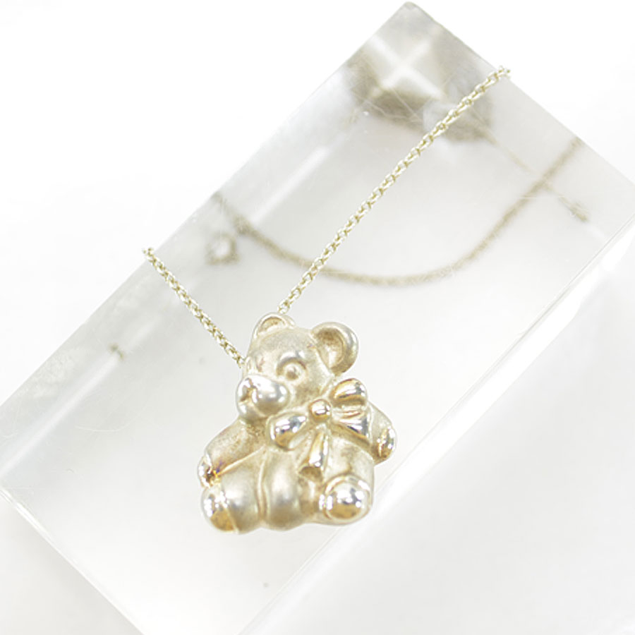 a160520a0d36 Brandvalue Tiffany Tiffanyco Necklace Teddy Bear Silver Sv925