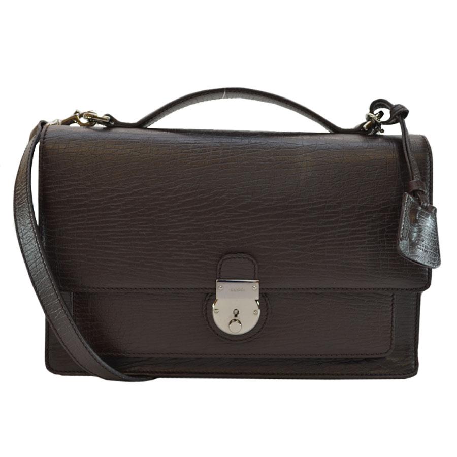 basic popularity   used  take Gucci  GUCCI  handbag slant  shoulder bag  2Way bag lady men chocolate brown leather 2704916535183
