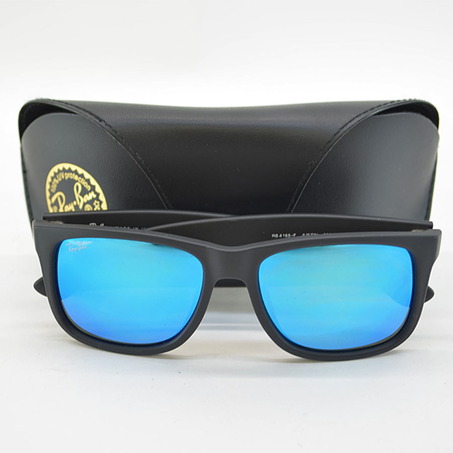 Ray Ban Ray Ban Sunglasses 54 17 140 Black X Blue Mirror Lens Plastic Men S R6596