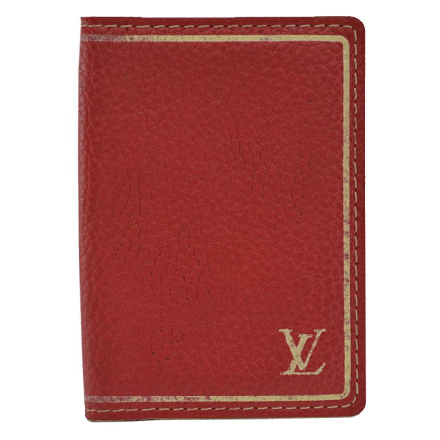 ルイヴィトン Louis Vuitton カードケース オーガナイザー・ドゥ・ポッシュ レッド レザー パスケース 定期入れ レディース M95144 【中古】【定番人気】 - r6653