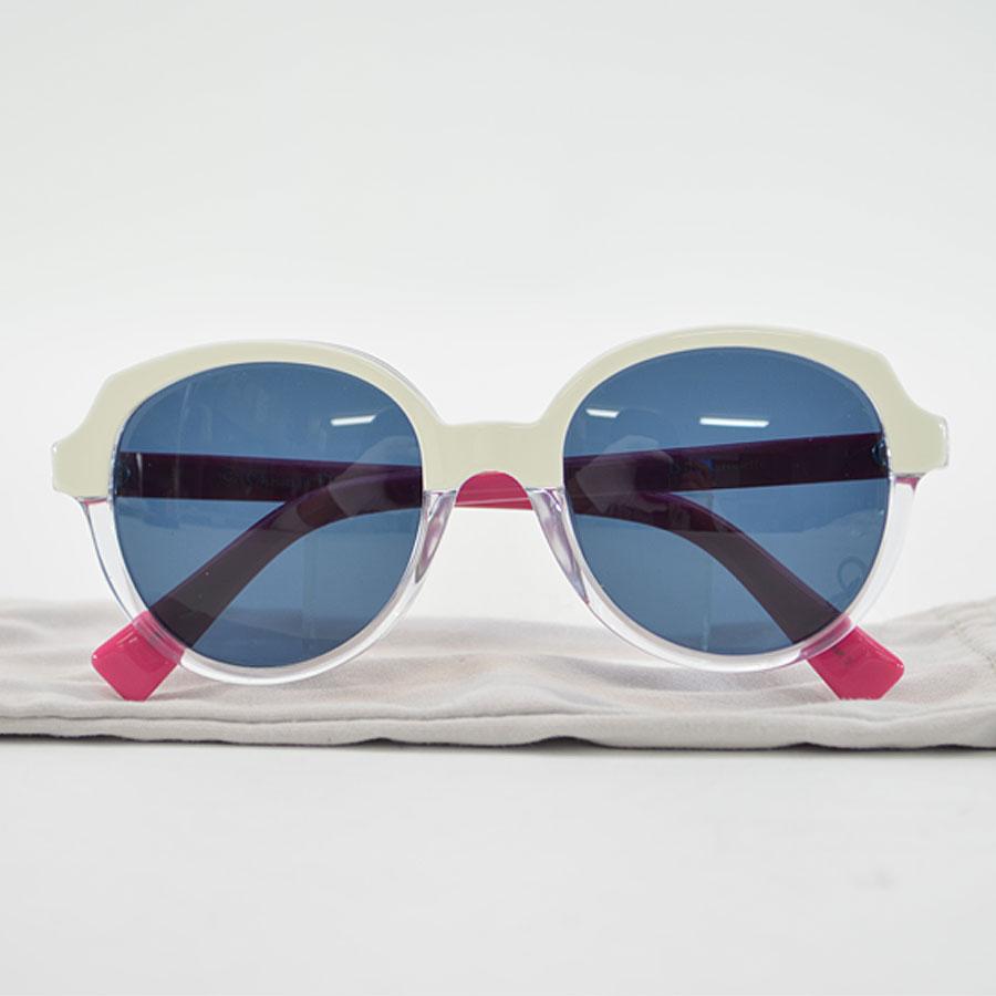クリスチャンディオール Christian Dior サングラス 46□18 125 ブラックxホワイトxピンク プラスチック レディース 【中古】【定番人気】 - r6782