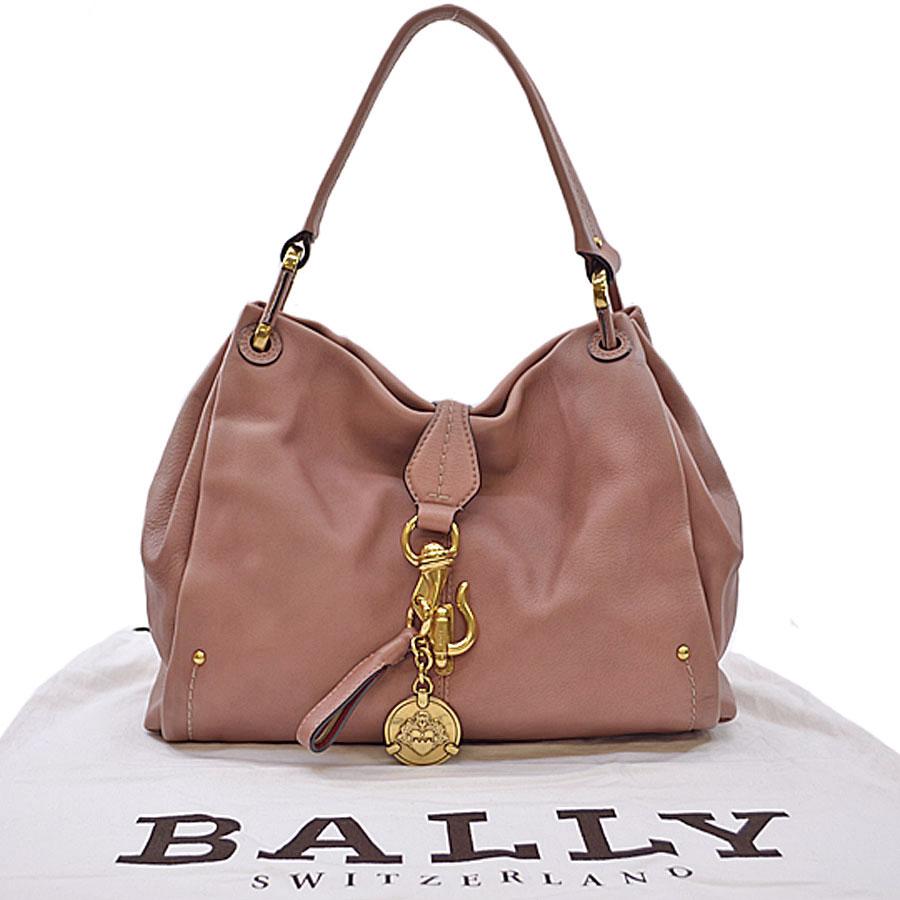 バリー BALLY ショルダーバッグ ピンク系xゴールドカラー レザーx金属素材 レディース 【中古】【おすすめ】 - s0377