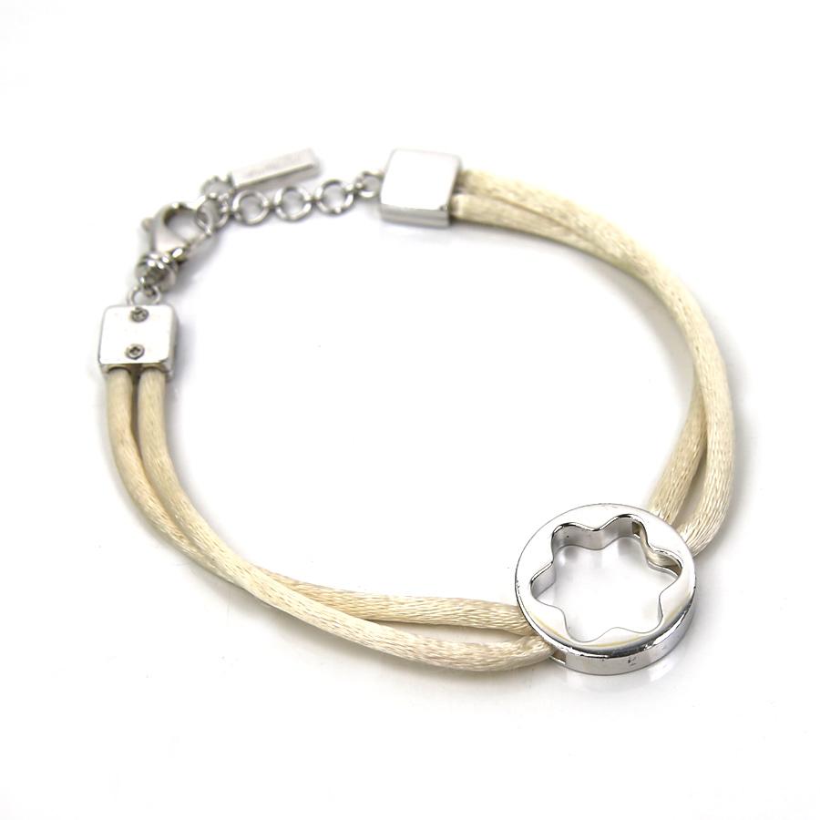 Brandvalue Mont Blanc Montblanc Bracelet Ivory X Silver Color