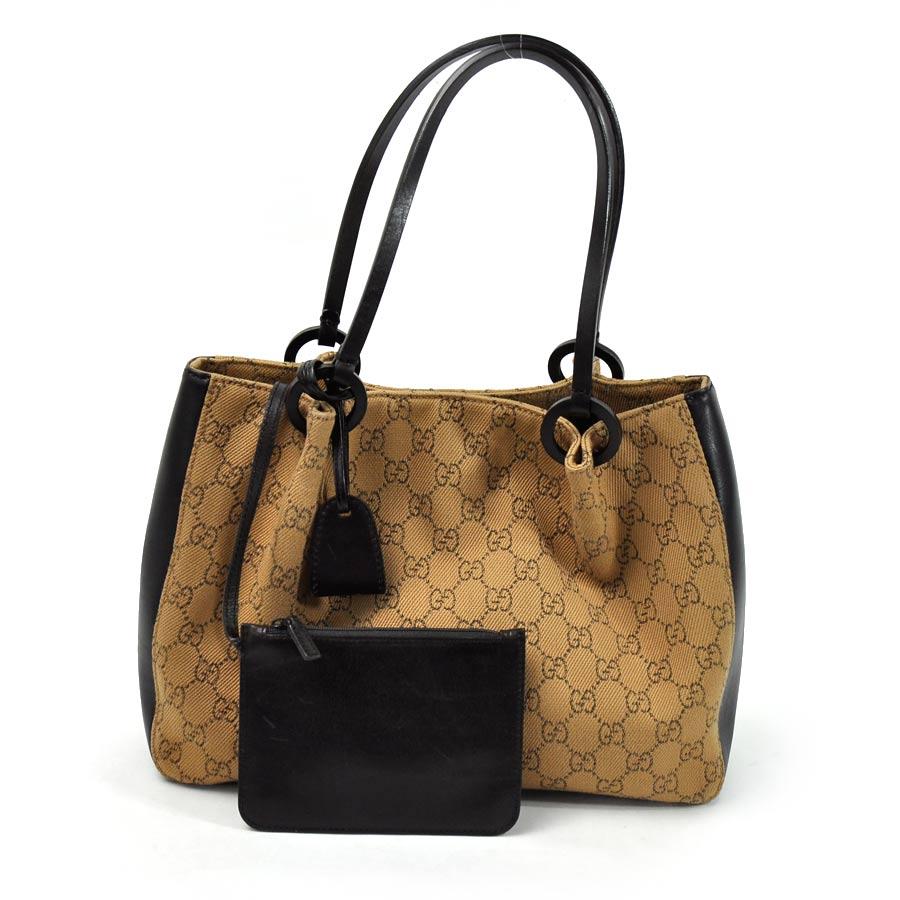 f12976f646 BrandValue: Gucci GUCCI shoulder bag GG pattern ◇ dark brown x light brown  canvas x leather ◇ constant seller popularity ◇ Lady's - y11491 | Rakuten  ...