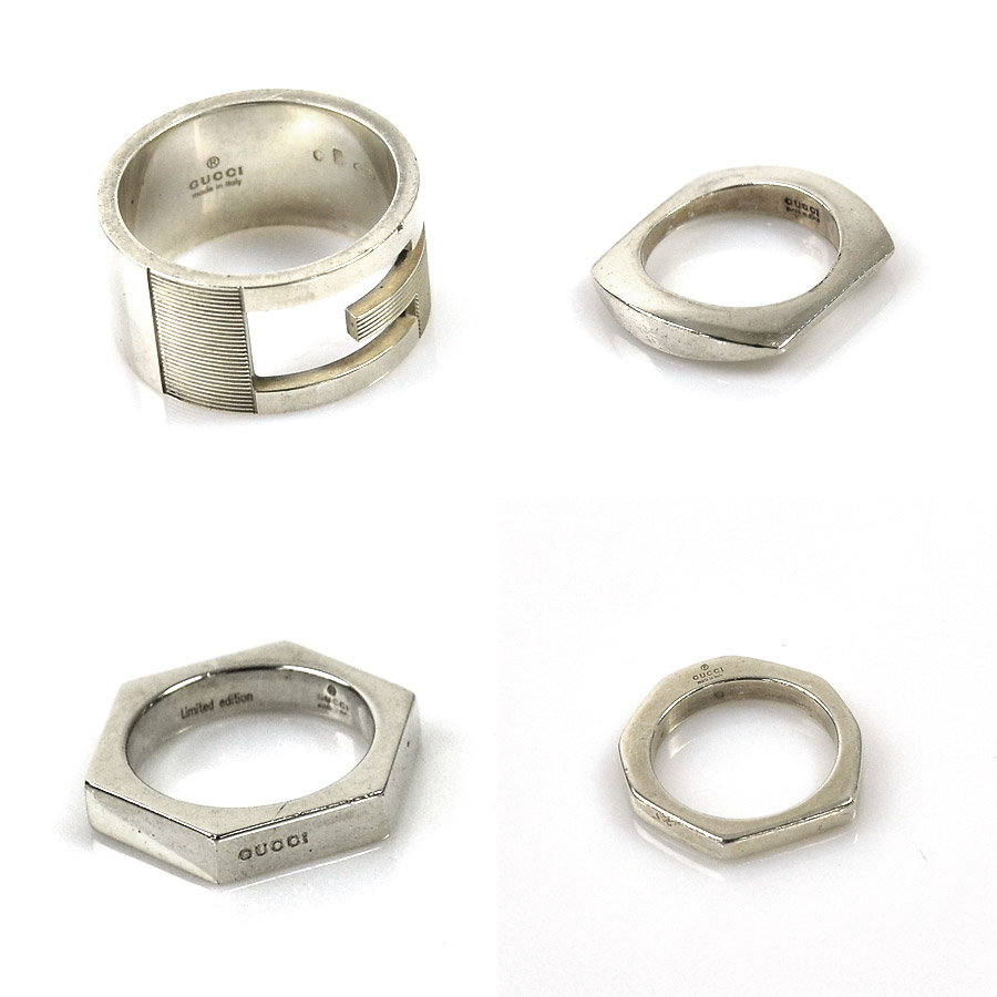 e52dabd3d94 Gucci GUCCI ring ring four points set ◇ silver silver 925 ◇ constant seller  popularity ◇ Lady s men - y11523