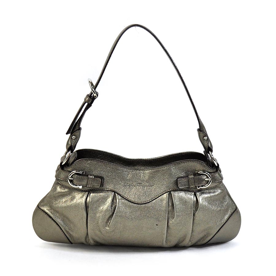 166cd297ca7a  basic popularity   used  Salvatore Ferragamo  Salvatore Ferragamo  shoulder  bag lady s bronze-based leather