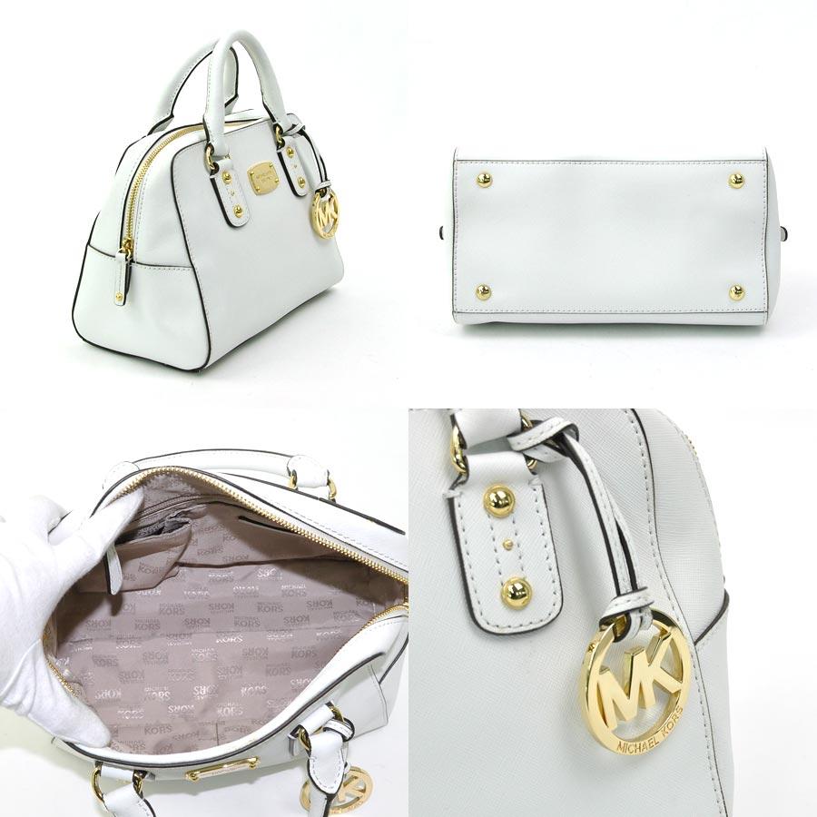 fc4ba4b4c14 Take Michael Kors MICHAEL KORS handbag slant; shoulder bag 2Way bag ◆ white  leather ◆ recommended ◆ Lady's - y11825