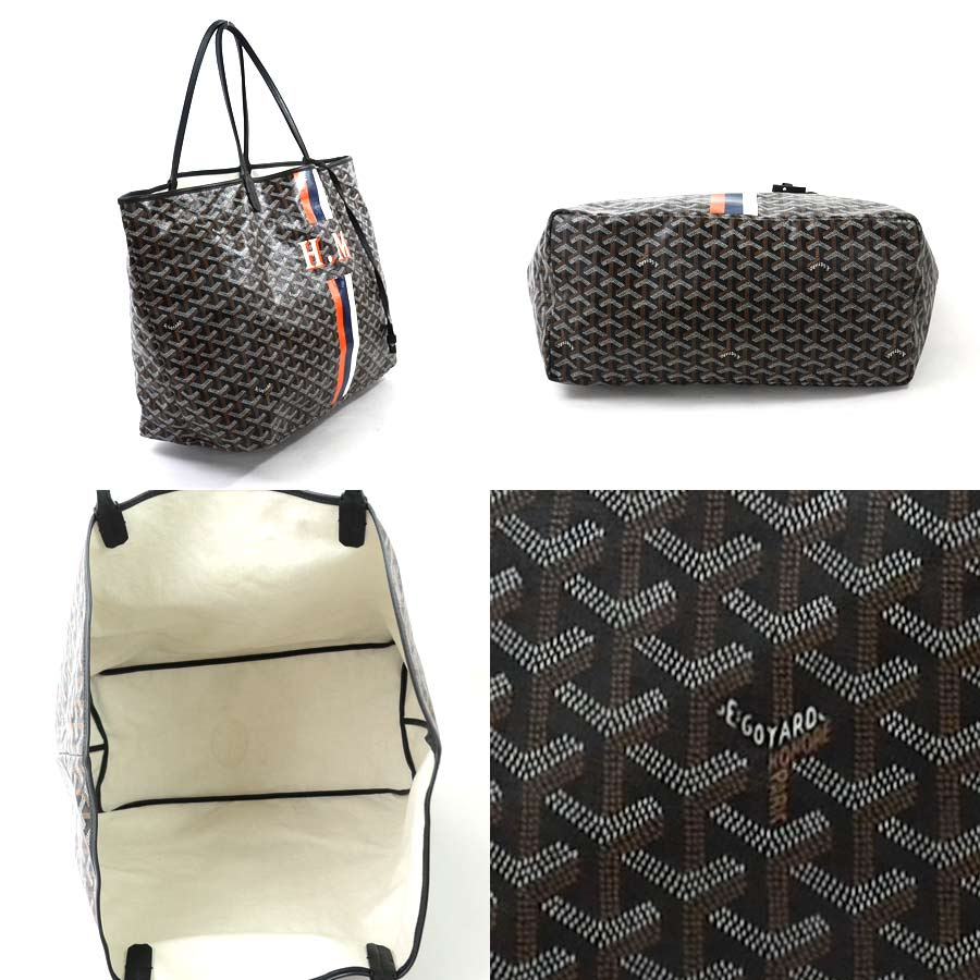 7942e6493f  there is reason  It is ゴヤール  GOYARD  St. Louise GM shoulder bag tote bag  Lady s men black x brown x white x orange x blue PVCx leather  used