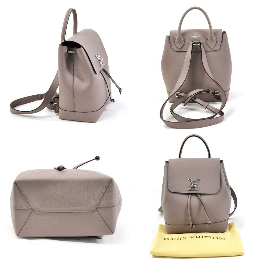 e6a08e4e648a  beautiful article  It is Louis Vuitton  Louis Vuitton  lock me backpack  rucksack lady s estimated mastic (graige system) software calf-leather   used