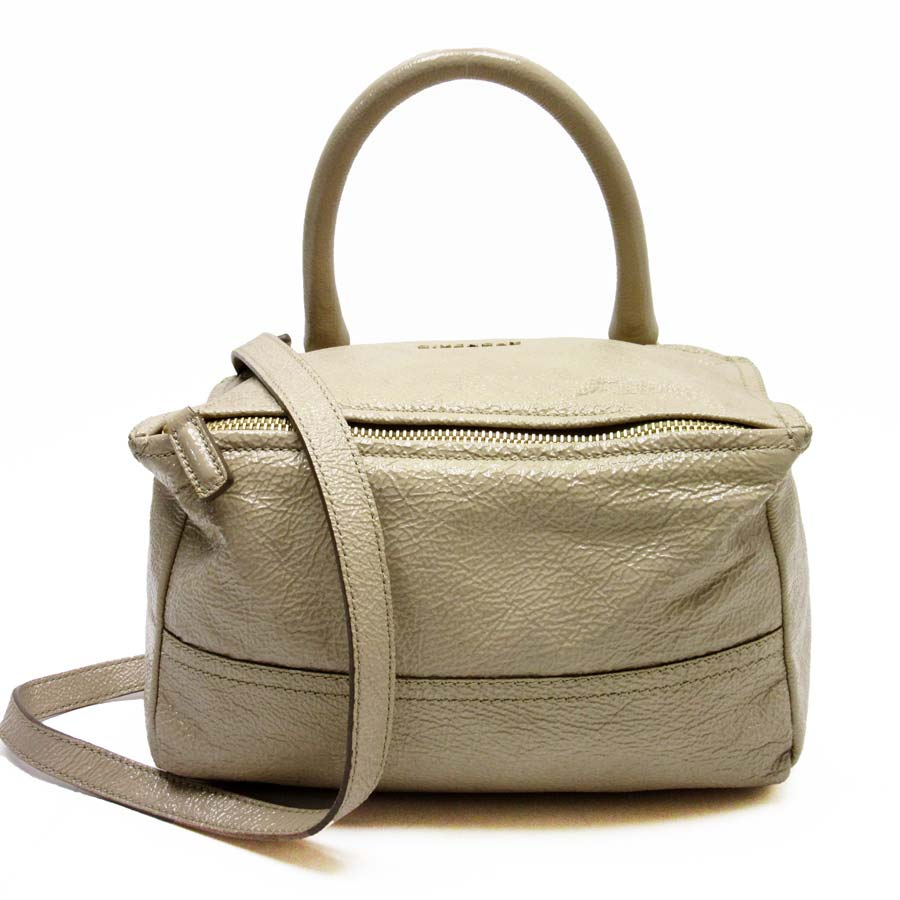 adcef9d93dda  basic popularity   used  take Givenchy  GIVENCHY  Pandora shoulder bag  slant  shoulder bag 2Way bag lady beige PVC