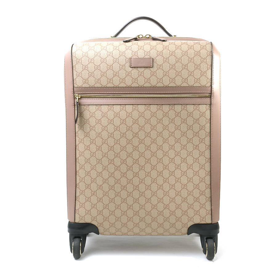 c397d7524b9ae1 All the shop articles point 5 times ☆ Gucci GUCCI carrier bag carry case  travel bag GG pattern carry on suitcase (four-wheeled wheel) pink beige  system ...
