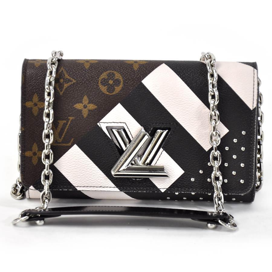 734797ef52 Louis Vuitton Louis Vuitton ショルダーバッグチェーンウォレットモノグラムポルトフォイユ twist chain  monogram brown x light ...