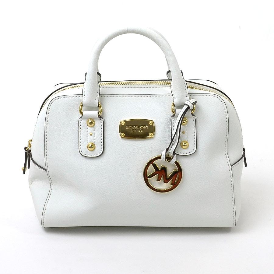 3d02513cf39 Take Michael Kors MICHAEL KORS handbag slant; shoulder bag 2Way bag white  leather x metal material Lady's - y12278
