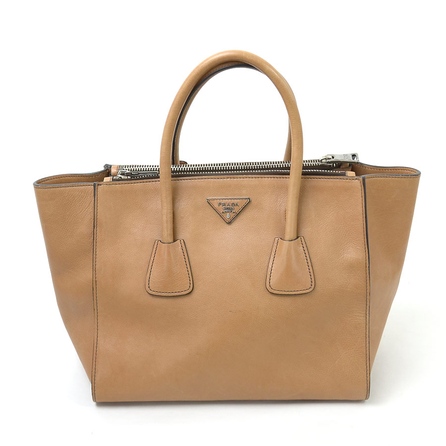 67bd2ee01a34 [basic popularity] [used] Prada [PRADA] handbag shoulder bag 2Way bag lady  NATURALE (light brown system)