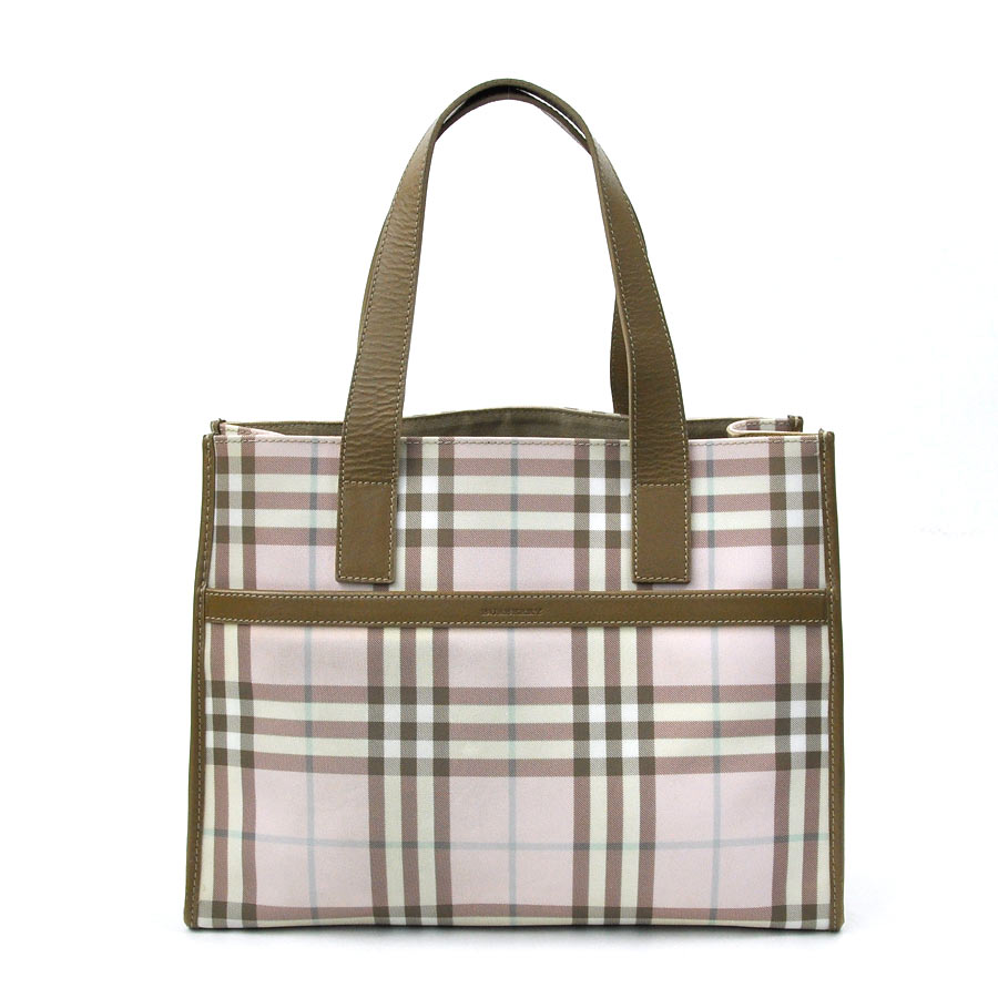 2b61b7a0f80 BrandValue: Burberry BURBERRY shoulder bag tote bag pink x beige PVCx  leather Lady's - t9749 | Rakuten Global Market