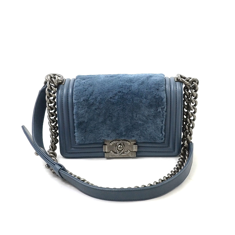 b5df25cd2741 BrandValue: Chanel CHANEL chain shoulder bag boy Chanel cage rags mho keeve  roux system cage rag fur Lady's premium special feature -93,891 | Rakuten  Global ...